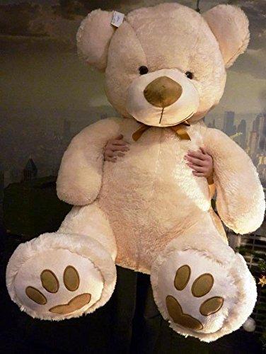 Oso de peluche XXL 135 cm fortuna osito de peluche osito suave peluche oso amoroso KJV de B: Amazon.es: Juguetes y juegos