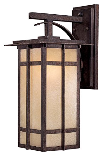 Minka Lavery Outdoor Wall Light 71192-357-PL Delancy Exterior Wall Lantern, 13 Watts Fluorescent, Iron (Fluorescent Exterior Fixtures Light)