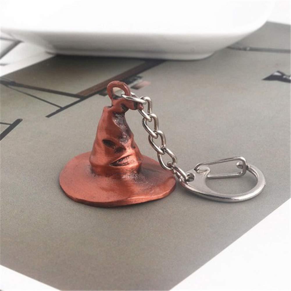 Kasla Magic Hat Key Chain Vintage Key Ring Cap Pendant Key Hook Key Buckle Ornaments Accessories for Key Car Key