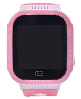 Aivtalk Reloj Inteligente para Niños con GPS Pantalla Táctil SOS Pulsera Silicona Despertador Rosa: Amazon.es: Relojes