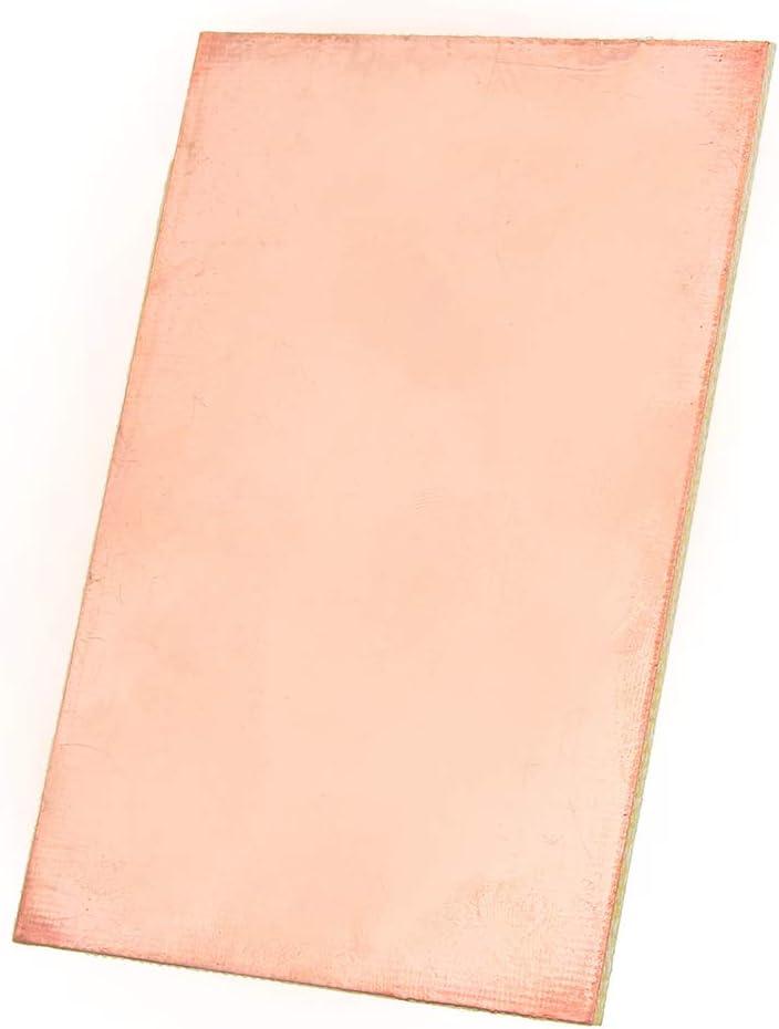Ils 5 pi/èces 7x10cm Seul c/ôt/é Circuit Board Copper Clad Plaque Lamin/é Circuit Board PCB Universel en Verre renforc/é Fibre cuivre