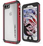 iPhone 7 / iPhone 8 Waterproof Case, Ghostek Atomic 3 Series for Apple iPhone 7/8 | Shockproof Dirtproof Dustproof Snowproof Underwater Swimming Diving Floating Aluminum Slim Fit | Red