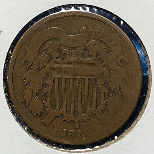 1864 Two-Cent Piece Full Readable Date (1 Coin) Historic Old US Type Coin Circulated Lower Grades