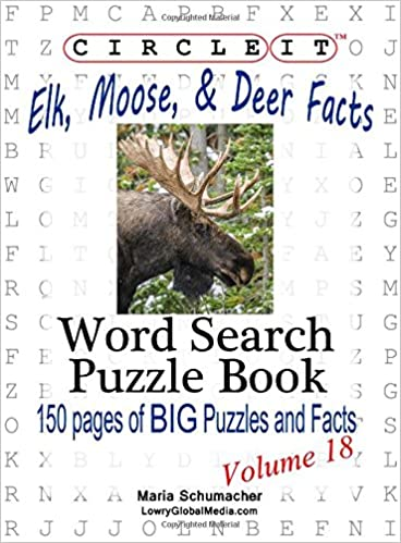 Circle It, Elk, Moose, and Deer Facts, Word Search, Puzzle