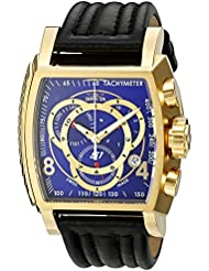 Invicta Mens 20243 S1 Rally 18k Gold Ion-Plated Watch with Leather Band