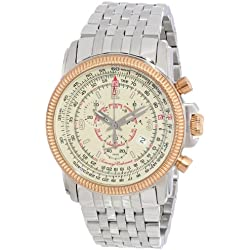 Tommy Bahama Swiss Men's TB3042 Panama Pilot Rose Gold Round Chronograph Pilot Watch
