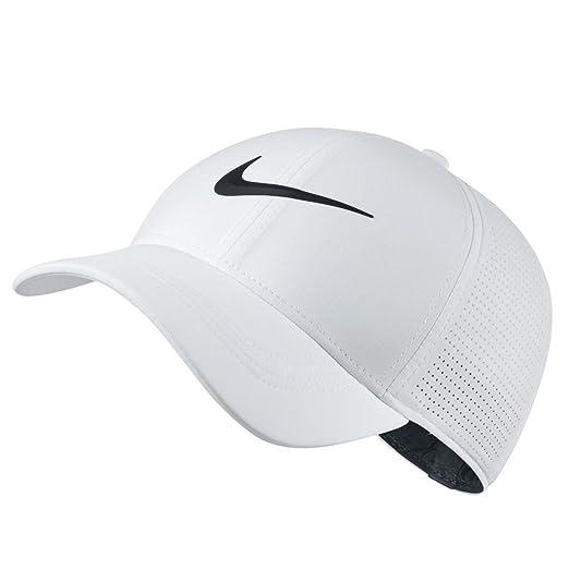 3dfc78d7 NIKE AeroBill Legacy 91 Performance Statement Golf Cap 2018  White/Anthracite/Black Large/