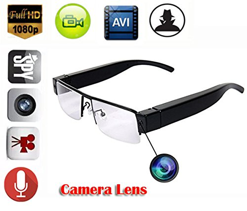 MDTEK@ HD 1080P Mini Spy Hidden glasses Camera DV Eyewear Nanny Camera glasses cam Camcorder - Eyewear Sp
