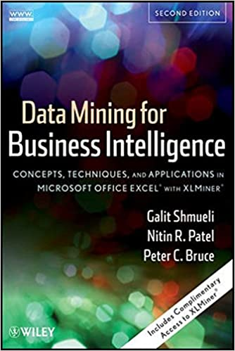 Data Mining For Business Intelligence: Concepts, Techniques, And Applications In Microsoft Office Excel With XLMiner Download
