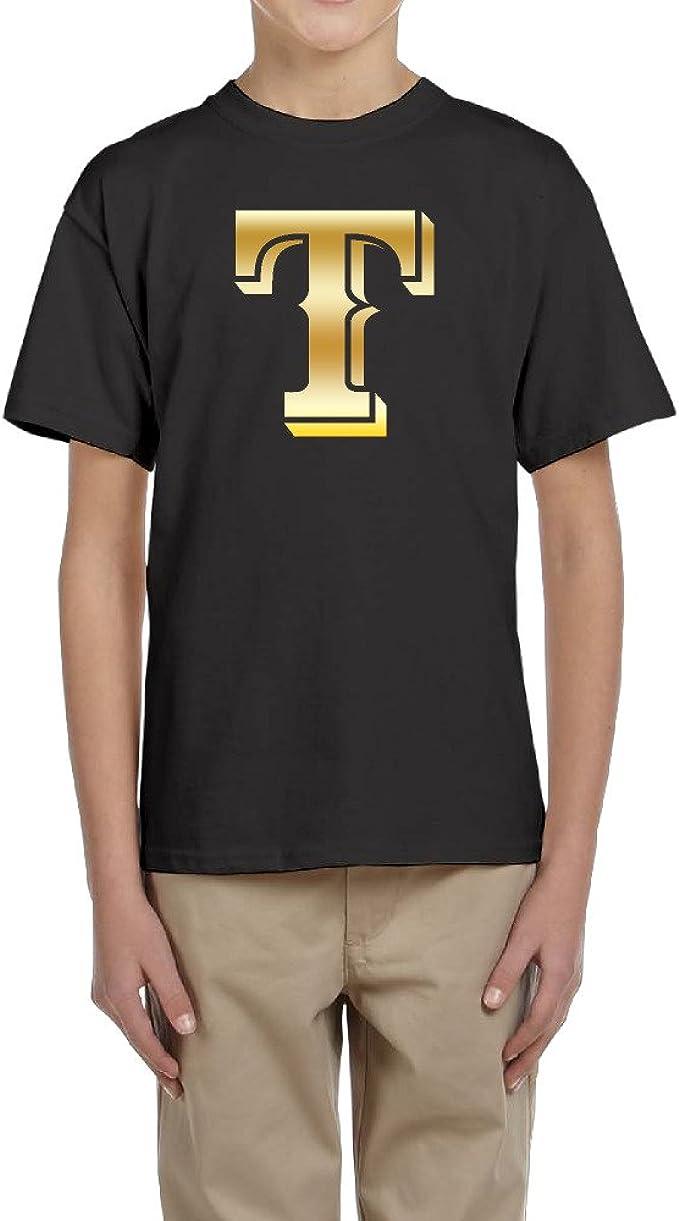 Texas Rangers Logo dorado Big Boy juventud camiseta: Amazon.es: Ropa y accesorios