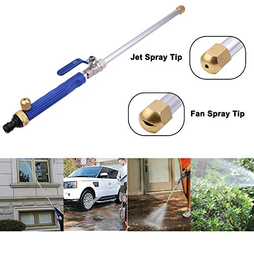 (Outfun Hydro Jet Spray Nozzle-High Pressure Power Washer Wand, Water Hose Garden Hose Sprayer,for Car Washer, Window Water Cleaner, Glass Cleaning Tool, 2 Tips)