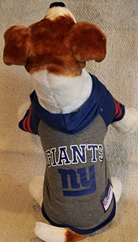 NEW YORK GIANTS ★ DOG PET HOODIE SWEATER ★ ALL SIZES ★ LICENSED NFL (XS)