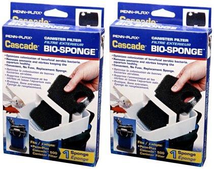Penn Plax Cascade 500/350 GPH Aquarium Canister Filter Bio Sponge Replacement (2 Pack) (Sponge Cascade Bio)