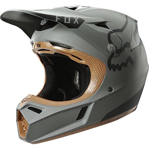 Fox Racing Moth LE Adult V3 Motocross Motorcycle Helmet - Stone / Large (Stones Racing Fox)