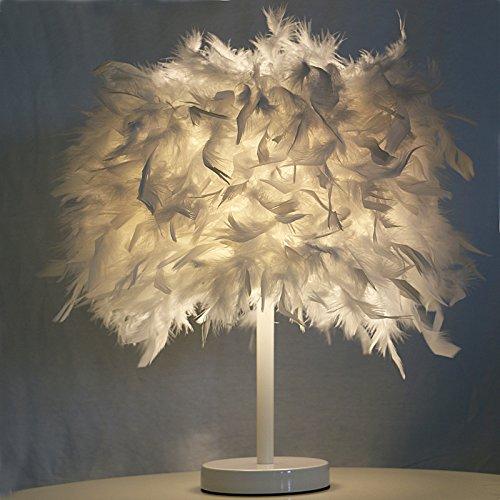 Thorecrdh minimaliste de style cratif europen Chambre, Boutique Htel, chevet Bouton Accueil Led Blanc Gradation lampadaire, lampe plumes,Grand Blanc Plume pais envoy ã