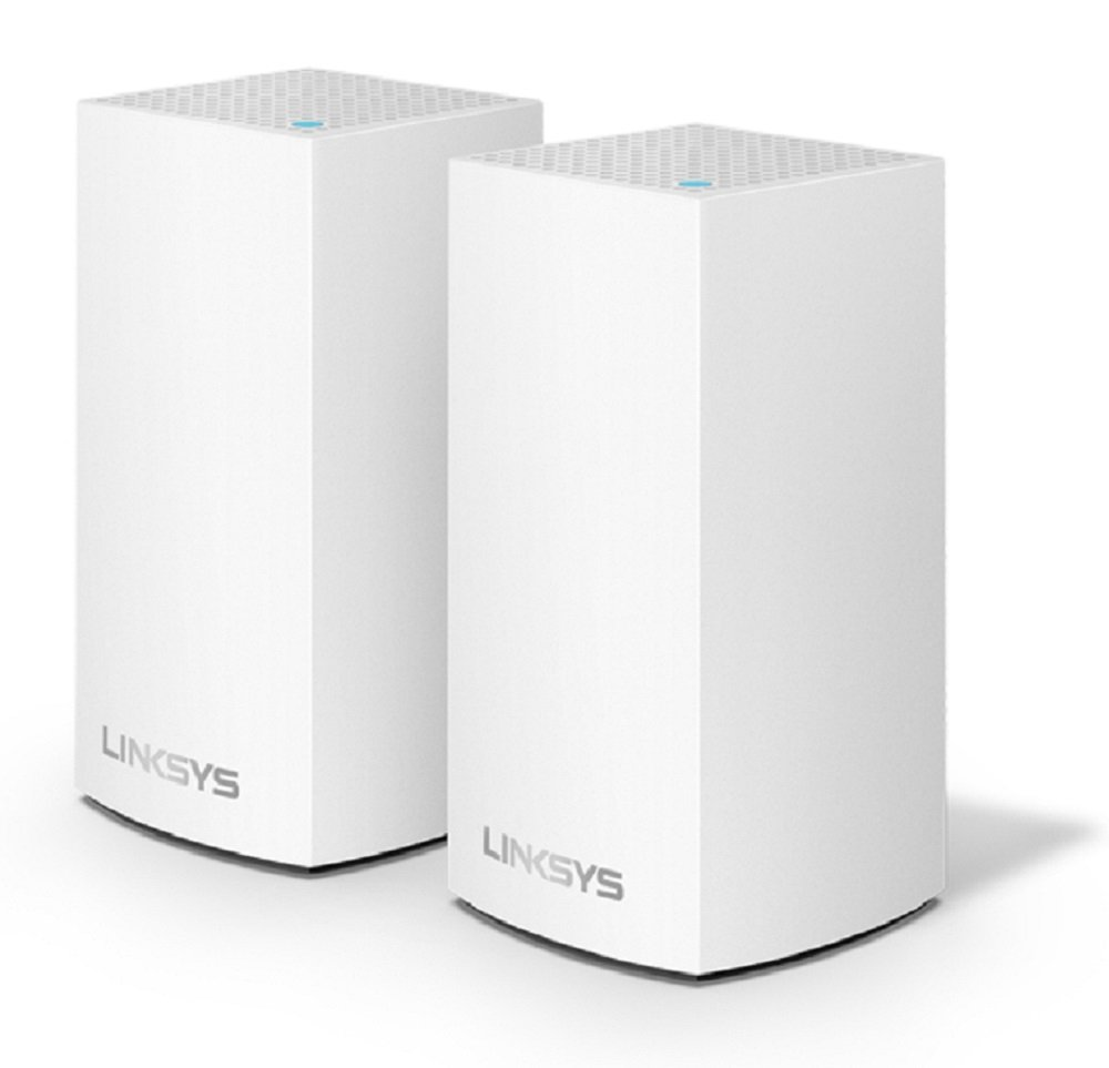 Linksys Velop Home Mesh WiFi System - WiFi Router/WiFi Extender for Whole-Home Mesh Network (2-pack, White) by Linksys