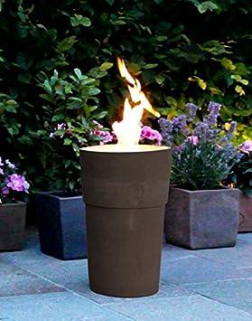 Flammentopf Siena Lava, Bio-Ethanol Feuerstelle aus Impruneta Terrakotta Flammentopf e.U.