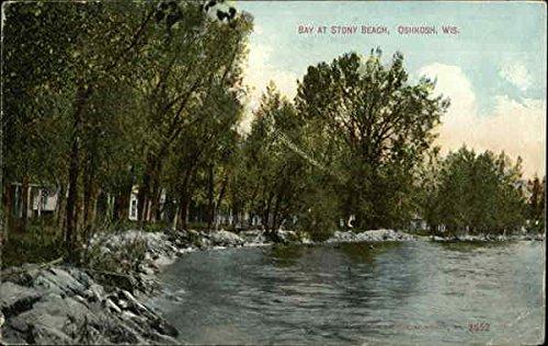 Bay at Stony Beach Oshkosh, Wisconsin Original Vintage Postcard