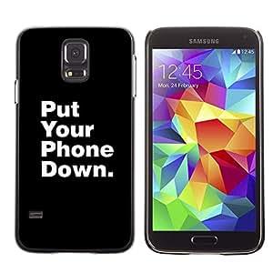 Tel¨¦fono Unidades de Down Vida Focus- Metal de aluminio y de pl¨¢stico duro Caja del tel¨¦fono - Negro - Samsung Galaxy S5