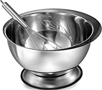 Pro Chef Kitchen Tools Stainless Steel Mixing Bowl - Heavy Duty, Large 3.5 Quart Capacity Wide Prep Bowl Easy To Clean, Oder and Stain Resistant, Retains Heat, Skid Proof