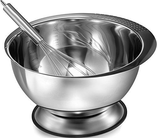 large metal mixing bowl set - 5
