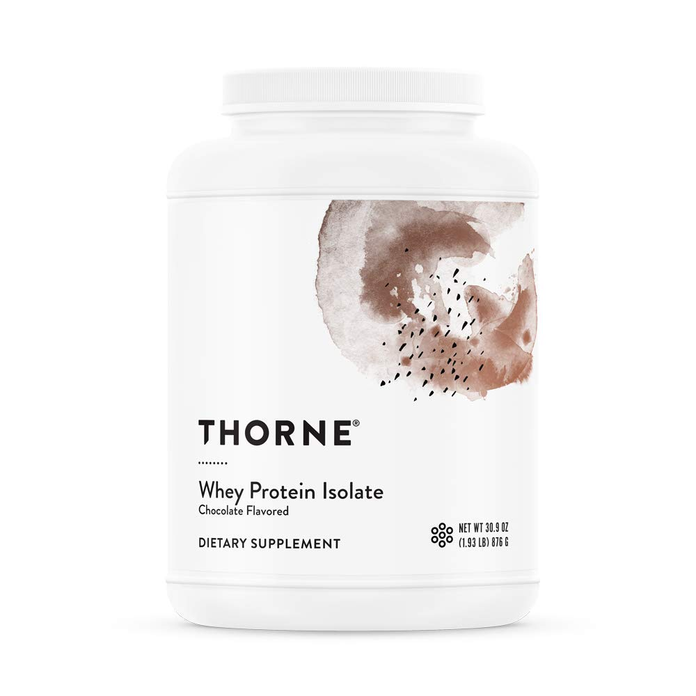Thorne Research - Whey Protein Isolate (Chocolate Flavor) - Easy-to-Digest Whey Protein Isolate Powder - NSF Certified for Sport - 30.9 oz by Thorne Research