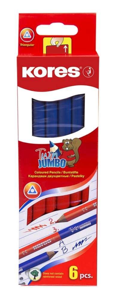 Kores Dreikant Lehrerbuntstift TWIN Jumbo blau//rot