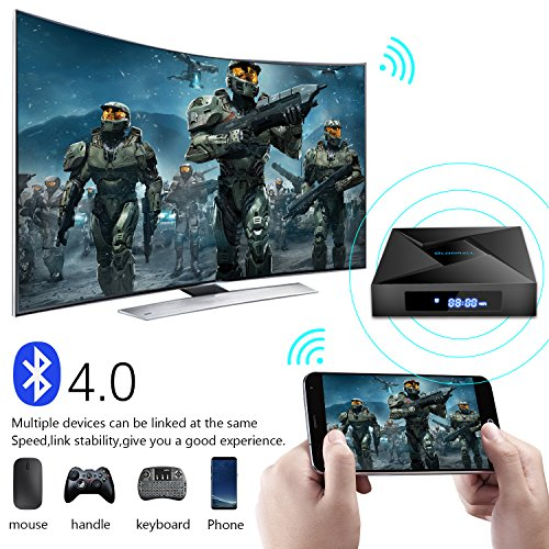 Globmall 4K Android 7.1 TV Box, 2018 Model X4 Smart TV Box 2G RAM 16G ROM Amlogic Quad Core ARM Cortex A53 with HDMI 2.0A Bluetooth V4.0