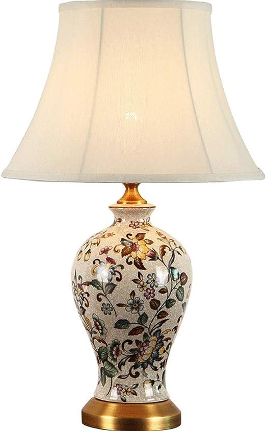 Lámparas de mesa Estilo chino de Cobre Lámpara de Mesa de Cerámica ...