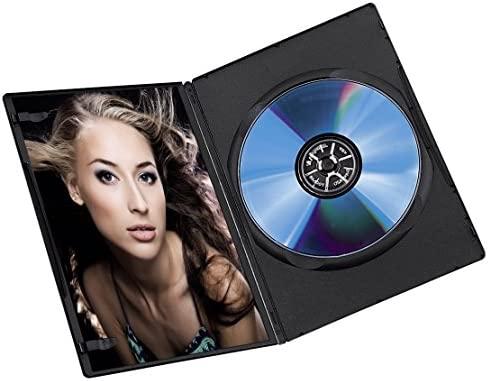 Hama DVD Slim Box 25, Cajas de discos ópticos, Negro, paquete de 25