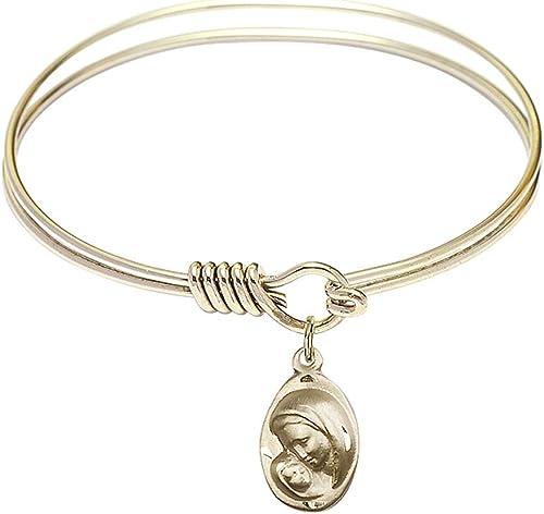 John Paul II Charm. DiamondJewelryNY Eye Hook Bangle Bracelet with a St
