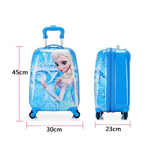 MOREFUN Disney Frozen 18 Kids Carry on Luggage Hard Side Upright Spinner Luggage,Princess