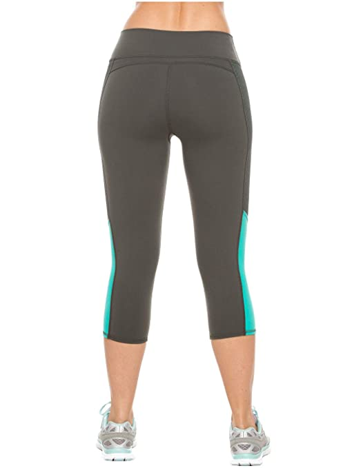 Flexmee Womens Capri Active Workout Leggings Gym Pants | Pantalones Deportivos