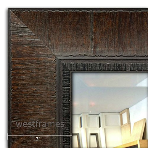 West Frames The Lodge Distressed Rectangular Framed Wall Mounted Mirror (35