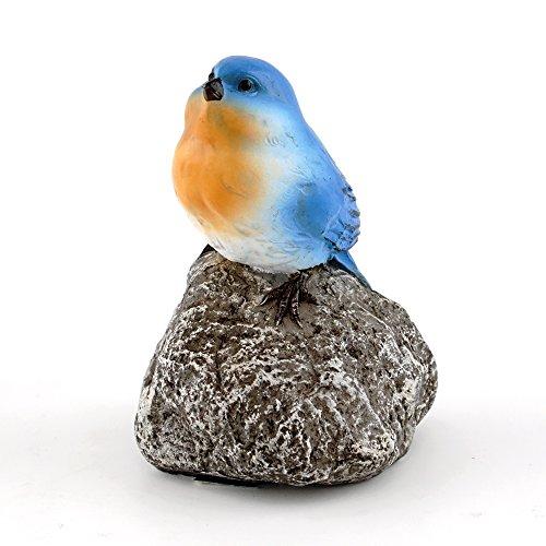 Top Collection 4403 Miniature Fairy Garden & Terrarium Bluebird on Stone Statue, Small