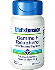 Life Extension Gamma E Tocopherol with Sesame Lignans, 60 Softgels (Pack of 2)