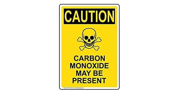 Caution Sign Carbon Monoxide May Be Present OSHA Safety DECAL Sticker