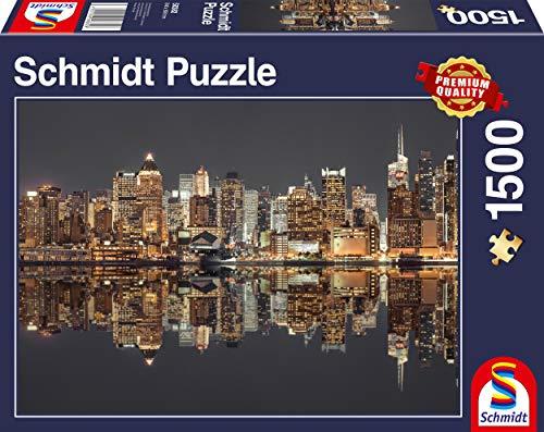 Schmidt Spiele 58382 Puzzle Da 1500 Pezzi Soggetto Skyline Di New York Di Notte