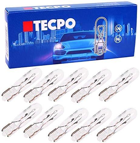 LED Weiß 12V DC Diffus 19mm 10 Stück Tachobeleuchtung T5 W1.2W Steck