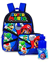 5-Piece Backpack Set - red/blue, one size