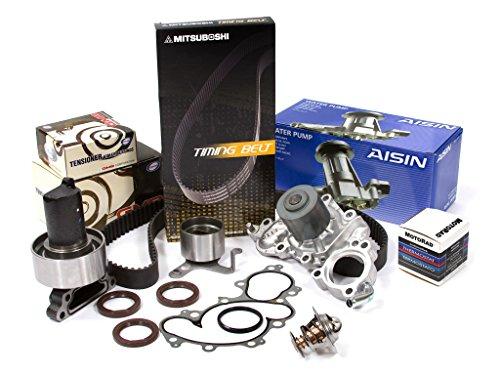(Evergreen TBK154MWPACT Fits 88-92 Toyota 4Runner Pickup 3.0 SOHC 3VZE Timing Belt Kit Thermostat Water Pump)