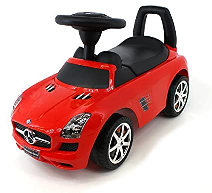 Landrover C0278-RED Gamme Rover Evoque Licence Ride on Push Along coulissante Jouet Sports Voiture de Course Tirer Trotteur Porteur Baby