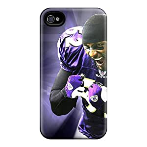 Anti-Scratch Hard Cell-phone Cases For Iphone 4/4s With Support Your Personal Customized Vivid Baltimore Ravens Pattern DustinFrench