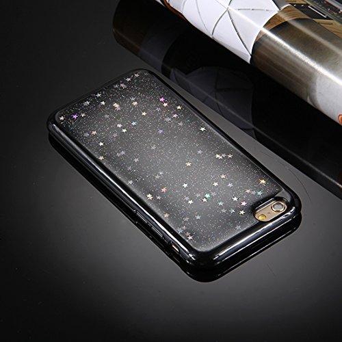 YAN Für iPhone 6 / 6s, Glitter Powder Mouse Ohr Soft TPU Schutzhülle mit Sling Hole