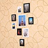 ZYANZ Photo Wall, Pine Free Combination Photo Frame (9 Packs)