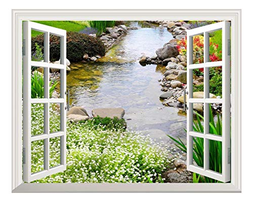 Removable Wall Sticker Wall Mural Clear Spring Out of The Open Window Creative Wall Decor
