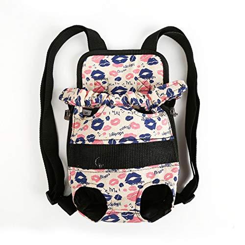 (Pets Carrier Backpack Adjustable Pet Front Cat Dog Travel Bag Leg Out S-XL,White,L)