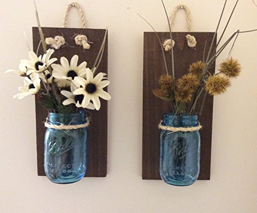 Mason-Jar-Wall-Sconce-SET-OF-TWO-Hand-Crafted-Rustic-Wall-Decor-Mason-Jar-Storage-Sconces-Rustic