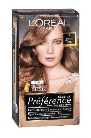 L\'Oreal Paris Preference Hair Colour, Dark Blonde (Number, 7 ...
