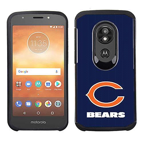 Prime Brands Group Cell Phone Case for Motorola Moto E5 Cruise/E5 Play - NFL Licensed Chicago Bears - Blue Textured Back Cover on Black TPU Skin